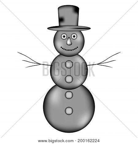 Snowman sign icon on white background. Vector illustration.