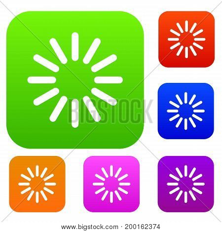 Sign waiting download set icon in different colors isolated vector illustration. Premium collection