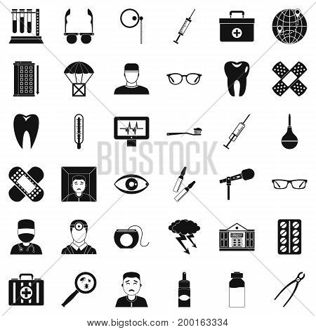 Good doctor icons set. Simple style of 36 good doctor vector icons for web isolated on white background