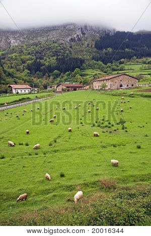 Basque mountain landscape