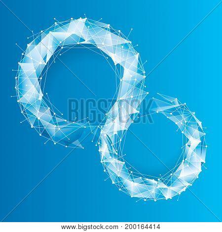 Blue Tech Geometric Background.