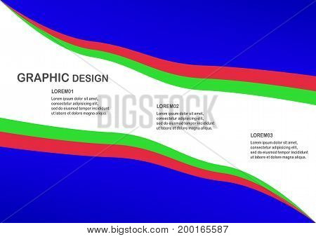 Colorful Material Design Background With Text Space.