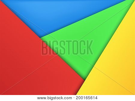 Abstract Modern Material Design Background In Colorful Color With Copy Space.