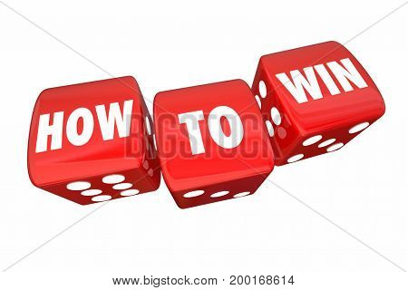 How to Win Plan for Success Rolling Dice 3d Illustration