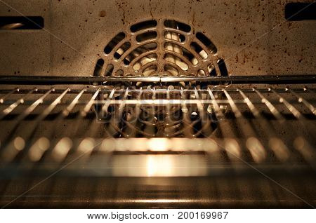 Inside oven, oven never clean dirty and not good for health