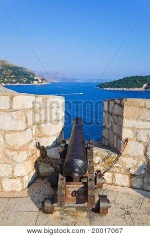Retro Cannon At Dubrovnik, Croatia