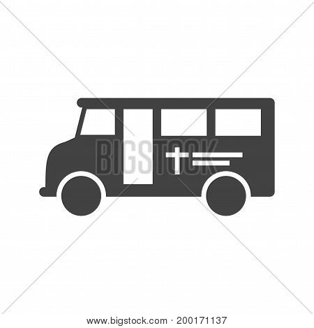 Coffin, van, funeral icon vector image.Can also be used for funeral. Suitable for mobile apps, web apps and print media.