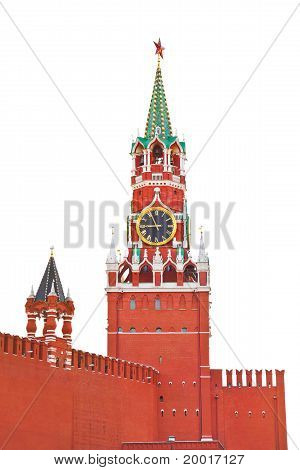 Spasskaya Tower In Kremlin