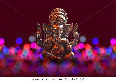 Lord Ganesha with Blured bokhe background ,