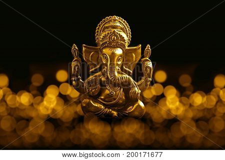 Lord Ganesha with Blurred bokhe background ,