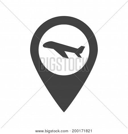 Airport, point, location icon vector image. Can also be used for airport. Suitable for mobile apps, web apps and print media.