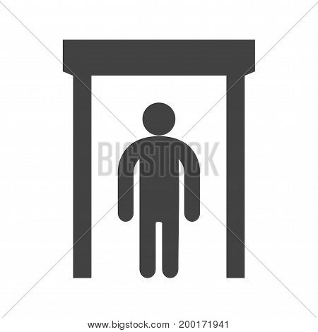 Elevator, modern, door icon vector image. Can also be used for airport. Suitable for mobile apps, web apps and print media.