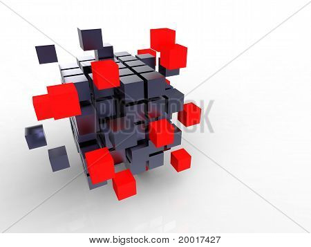 Red Cube Together