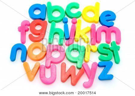 Colorful alphabet letters.