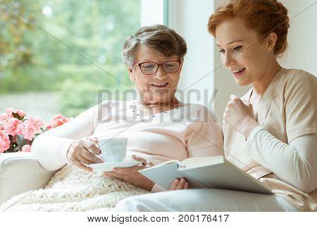 Elder Lady During Free Time