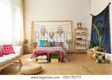 Cozy Ethnic Ethereal Apartment Interior