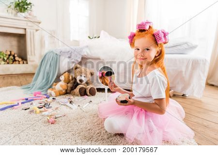 Little Girl With Face Powder