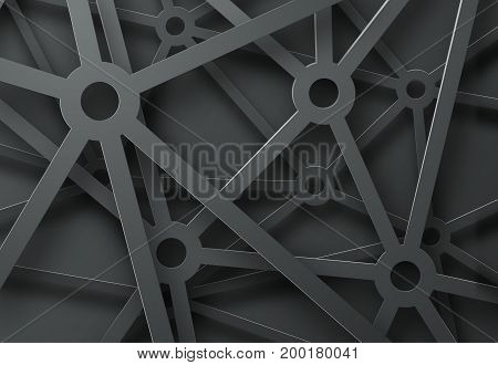 Abstract Background With A Pattern Of Cobwebs From Mechanisms On Black