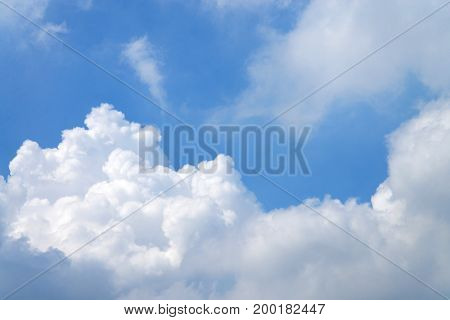 A Picture of Clouds with blue sky