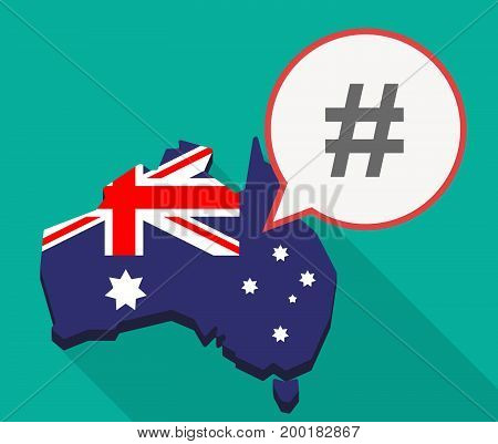 Long Shadow Australia Mmap With A Hash Tag