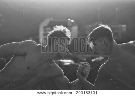 Men Or Bodybuilders Wrestling