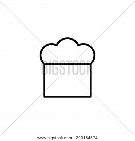 Chef's Hat Icon On White Background