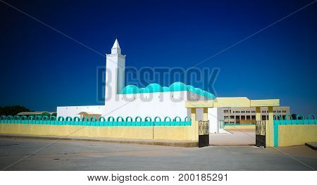 The view to Ibn Abbas mosque at Nouakchott in Mauritania