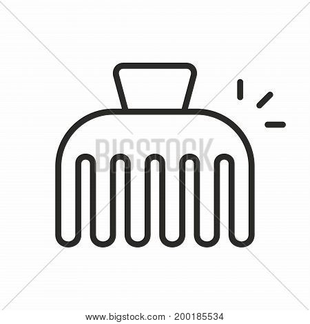Hairpin line icon on white background. Vector illustration.
