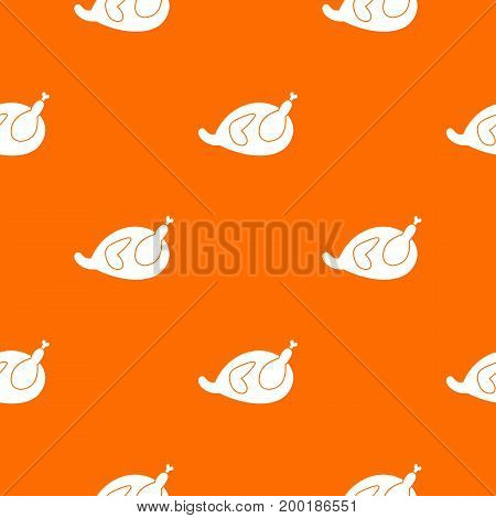 Gammon pattern repeat seamless in orange color for any design. Vector geometric illustration