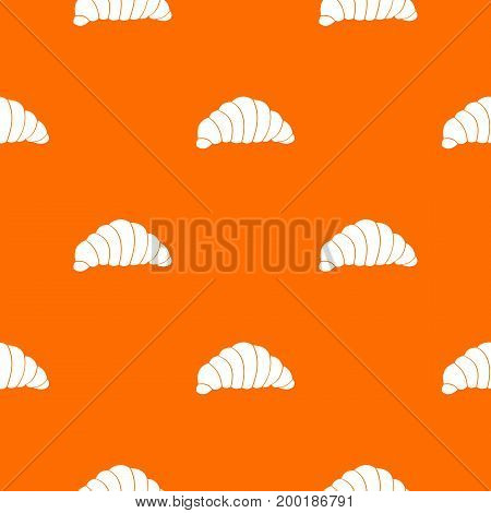 Croissant pattern repeat seamless in orange color for any design. Vector geometric illustration