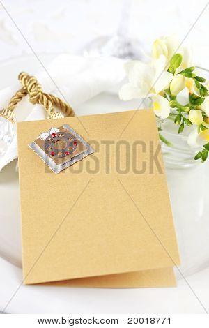 Invitation Card  Or Menu For Wedding