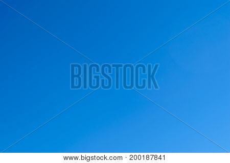 Background of gradient clear blue sky. Weather forecast illustration.