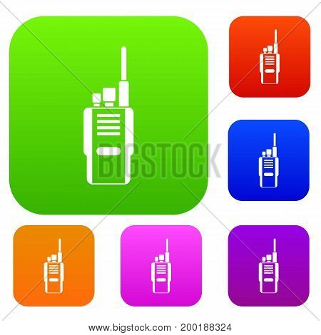 Radio set icon in different colors isolated vector illustration. Premium collection