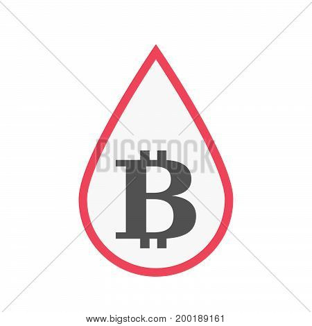 Isolated Blood Drop With A Bit Coin Sign