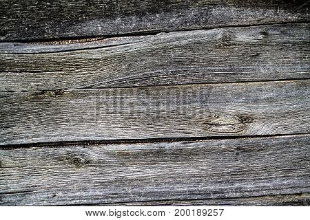 Background of old weathered wooden plank, texture