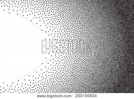 Dotwork gradient background, black and white stipple dots