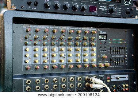 Professional Audio Dj Mixer Console, Sound Tools And Gear, Studio Equipment Picture
