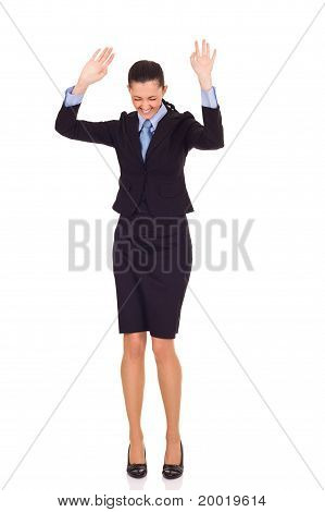 Successful Businesswoman,  Winner Dancing