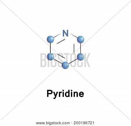 Pyridine is a basic heterocyclic organic compound with the chemical formula C5H5N
