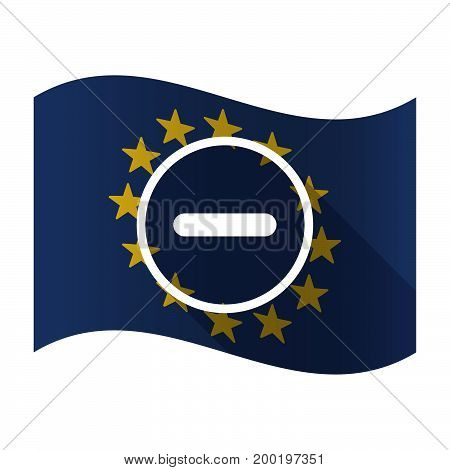 Isolated Eu Flag With A Subtraction Sign