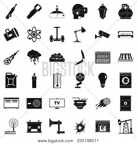 Good energy icons set. Simple style of 36 good energy vector icons for web isolated on white background