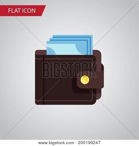 Billfold Vector Element Can Be Used For Billfold, Saving, Pouch Design Concept.  Isolated Saving Flat Icon.