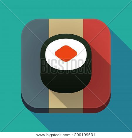 Long Shadow France Flag With A Piece Of Sushi Maki