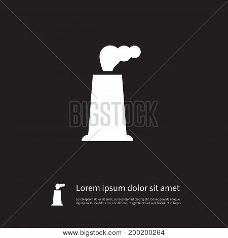 Building Vector Element Can Be Used For Factory, Industry, Fabric Design Concept.  Isolated Factory Icon.