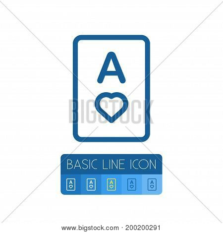 Card  Vector Element Can Be Used For Passion, Poker, Card Design Concept.  Isolated Poker Outline.