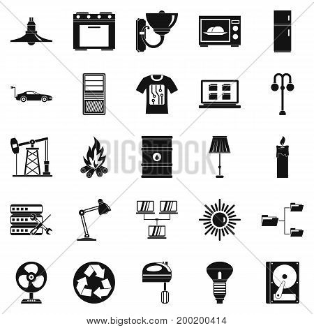 Transformer icons set. Simple set of 25 transformer vector icons for web isolated on white background