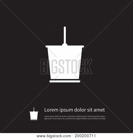 Pail Vector Element Can Be Used For Bucket, Pail, Container Design Concept.  Isolated Bucket Icon.