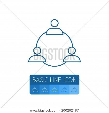 Group Vector Element Can Be Used For Group, Staff, Unity Design Concept.  Isolated Staff Outline.