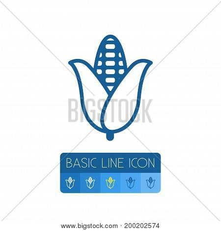 Cereal Vector Element Can Be Used For Cereal, Corn, Corny Design Concept.  Isolated Corn Outline.