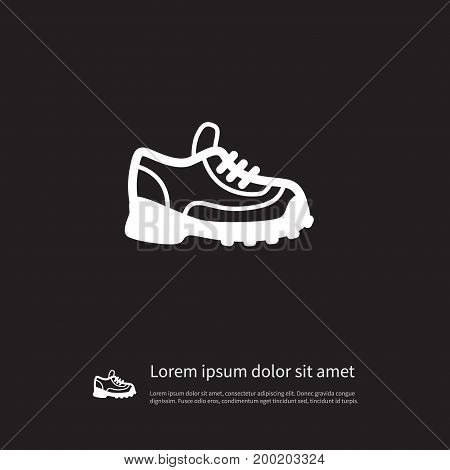 Athletic Shoe Vector Element Can Be Used For Sneakers, Athletic, Shoes Design Concept.  Isolated Sneakers Icon.